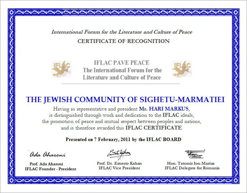 IFLAC Certification to Hari Marcus