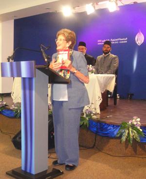 Ada speaking in the Ahmedim Mosque in Kababir