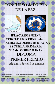 Diploma for Alejandro Javier Bustamante