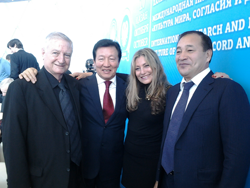 Susana Roberts and Ernesto Kahan in Astana