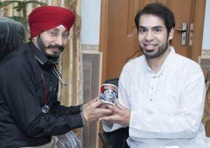 Farhan Wilayat Butt with Dr. Mimpal Singh