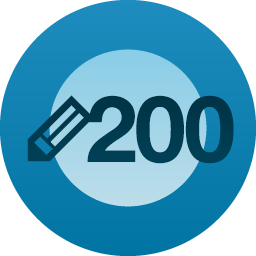 200 blog posts reached